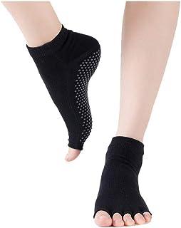 Wenquan,3 paia di calze antiscivolo da donna calzini yoga professionali 3 paia di calze antiscivolo da donna calzini yoga professionali(color:beige size:Taglia unica)