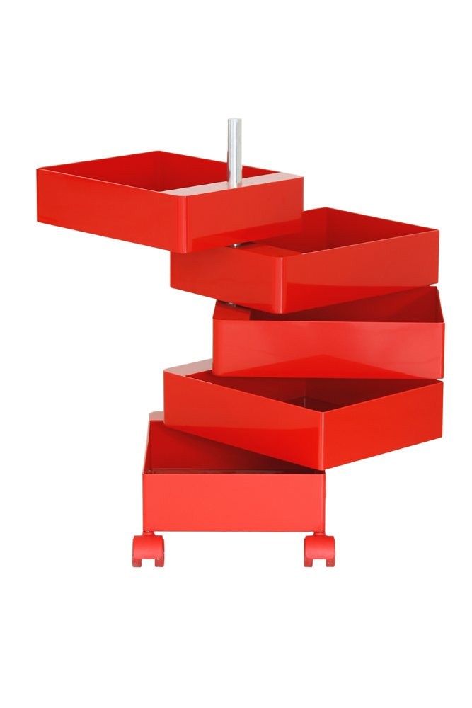 Magis Design 360° Container 5 Drawers Red by Magis