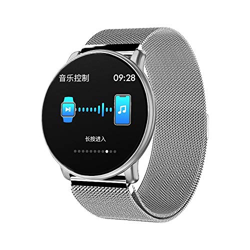 LEMFO LT03 Smart Watch for Android & IOS, SHUDAGE Women Men 1.33 inch TFT Screen Tempered glass DIY Watch Faces Multi-sports Mode Heart Rate Monitor Smart Watch Bracelet (Milanese) (D)