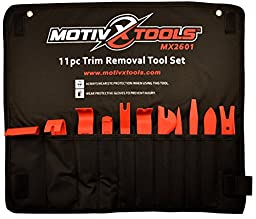 Motivx Tools 11pc Trim Removal Tool Set - Trim and Panel Removal Tools for Automotive, Marine, and Aircraft Use That Won\'t Scratch or Mar Delicate Surfaces Like Metal Tools