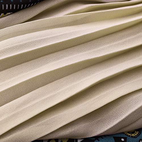 Soie Floral lgante Sixcup Plisse Jupe Toute Gitane Longue Saison Jupe Unie Couleur Maxi Bleu en Femme Wrap Longues Jupes Mousseline de la Jupe Pliss qY5Y0