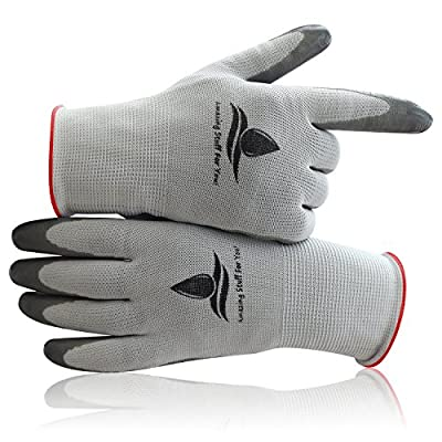 Garden Gloves, Work Gloves Women (2 pairs per package) breathable, special protective coating against cuts