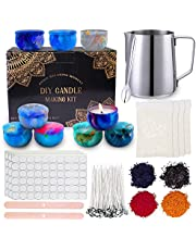 DIY Candle Making Kit by YOSICIL, Easily Create Candle Making Supplies Includes 4 Packs Beeswax, Wax Melting Pot, 100 Cotton Wicks, 4 Pigment, 9 Candle Tins and More
