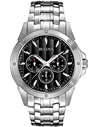 Men's 96C107 Black Dial Stainless Steel Watch