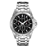 Best Bulova Mens Bracelets - Bulova Men's 96C107 Black Dial Stainless Steel Watch Review