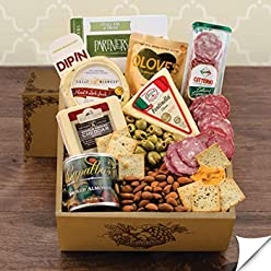 Cheese u0026 Crackers Classic Collection Gift Box & Amazon.com: Capalbou0027s Gift Baskets: Stores