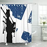 VaryHome Shower Curtain Black Bagpipe Si