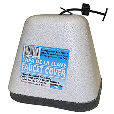 LASCO Outdoor Faucet Cover Freeze Protector Hose Bibb with Styrofoam Shell