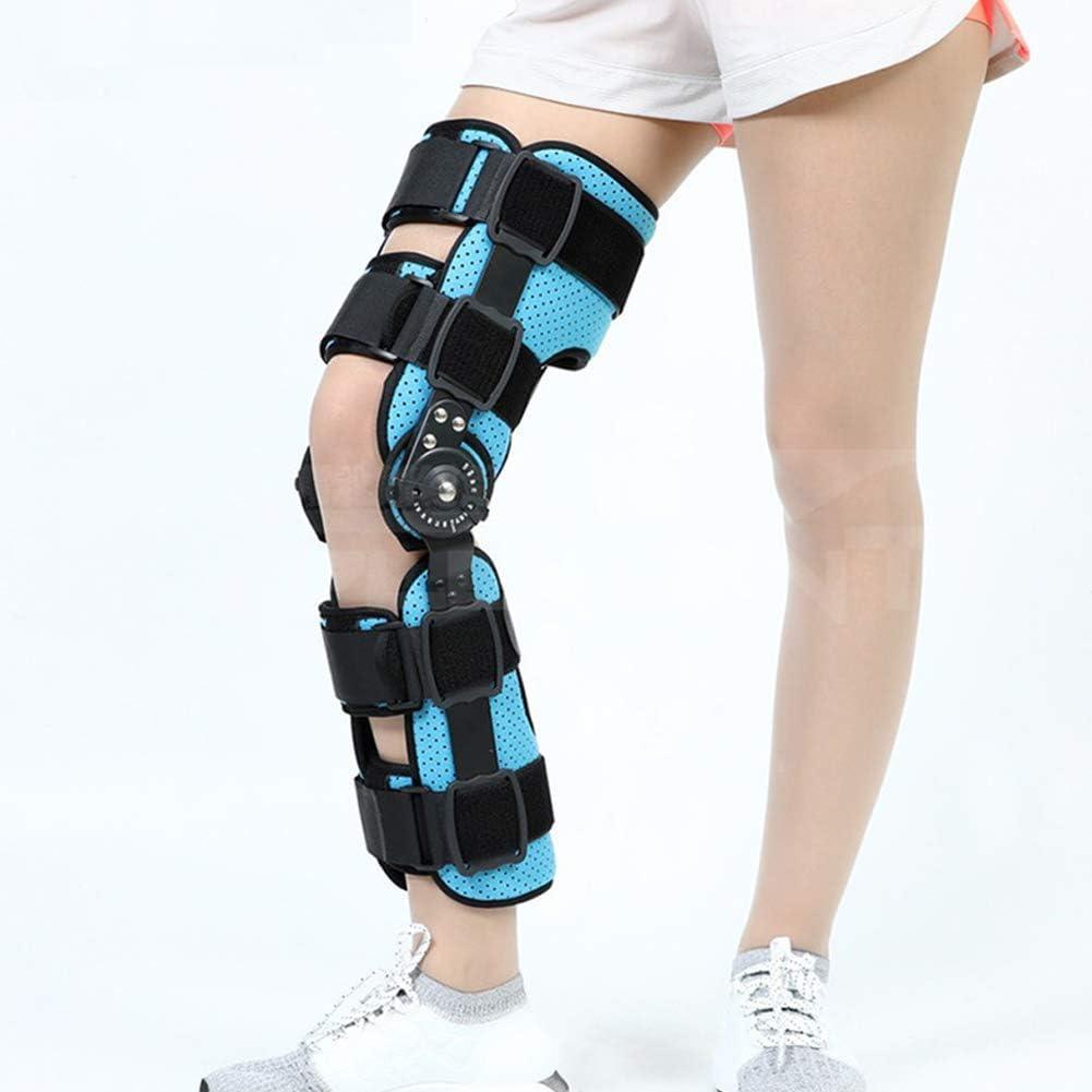 TWL LTD Rodillera con Bisagras Estabilizador de Soporte Ortopédico Médico Ajustable Rodillera Rodillera Después de la Recuperación Inmovilización Férula