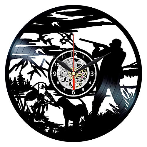 Duck Hunting Clock Cool Vinyl Record Wall Art Decor Bird Hunter Gifts for - 12 Hunter Inch Clock