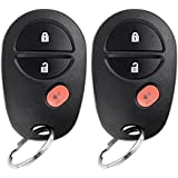 YITAMOTOR 2 Key Fob Replacement 3 Button Keyless Entry Remote Control Transmitter for GQ43VT20T