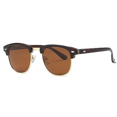 kimorn Polarizado Gafas de sol Unisex Retro Semi-Rimless marco gafas clásicas AE0550