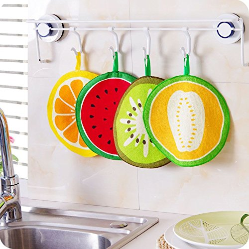 Muhan Hanging Towels Absorbent Soft Fruit Hand Towels Wipe and Dish Cloth for Kitchen and Bathroom
