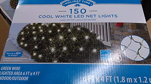 150-cool-white-led-net-lights-green-wire-6ft-x-4ft-lighted-area-energy-star