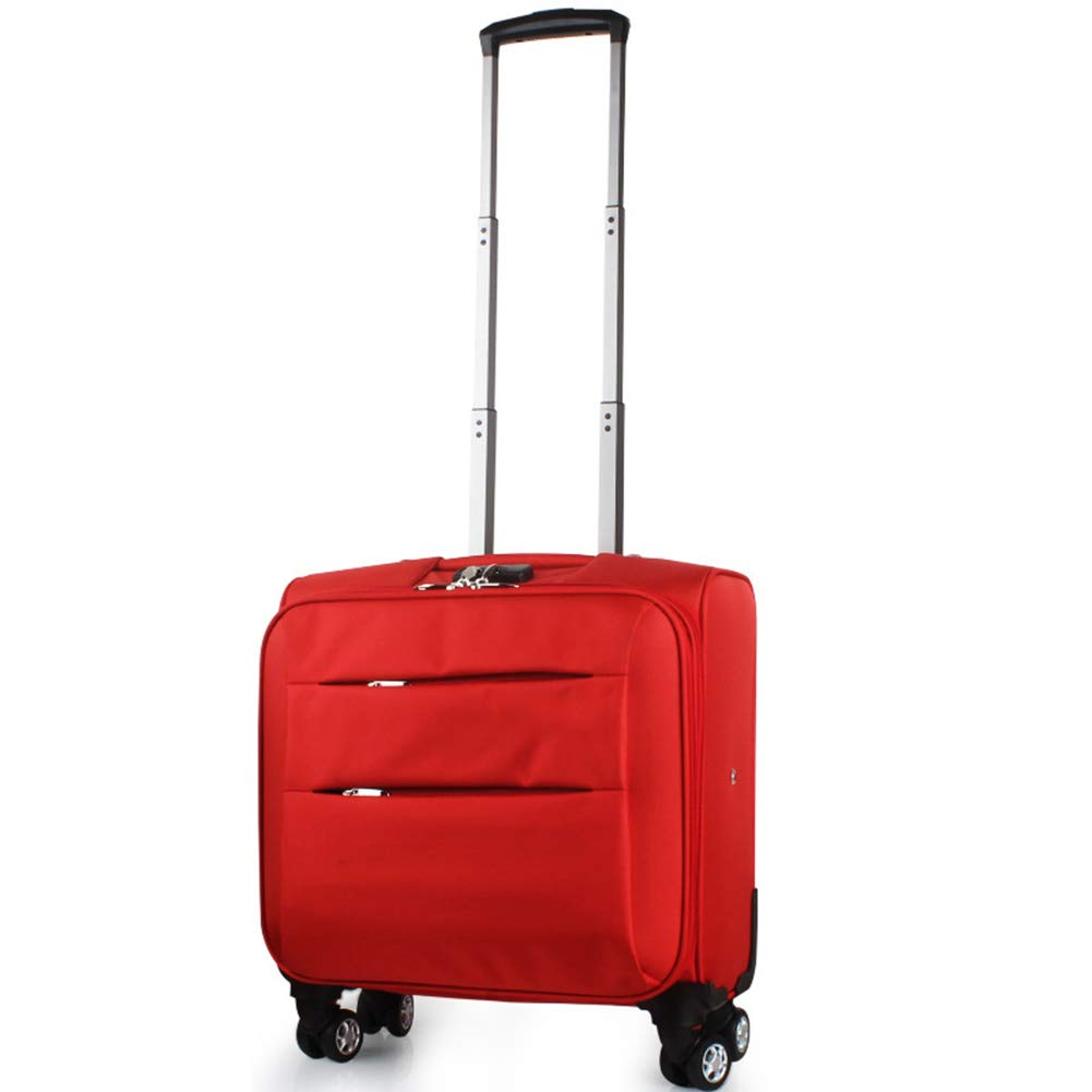 超軽量4輪スピナーはキャビン手荷物スーツケースで運行トロリーフライトバッグケース、ほとんどの航空会社で承認(20インチ) B07KM1C9PR Red