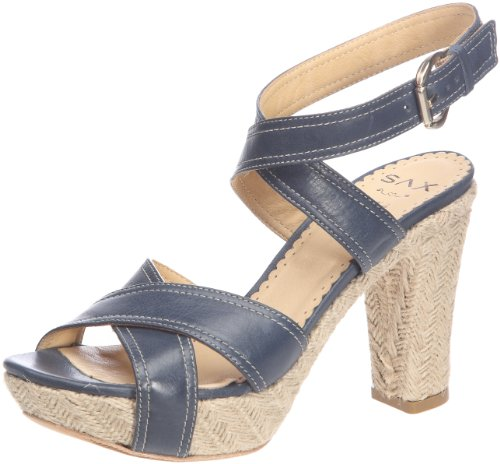 Sax 24427 - Sandalias de cuero para mujer Azul (Blu (Denim Bleu (Mallows Denim)))
