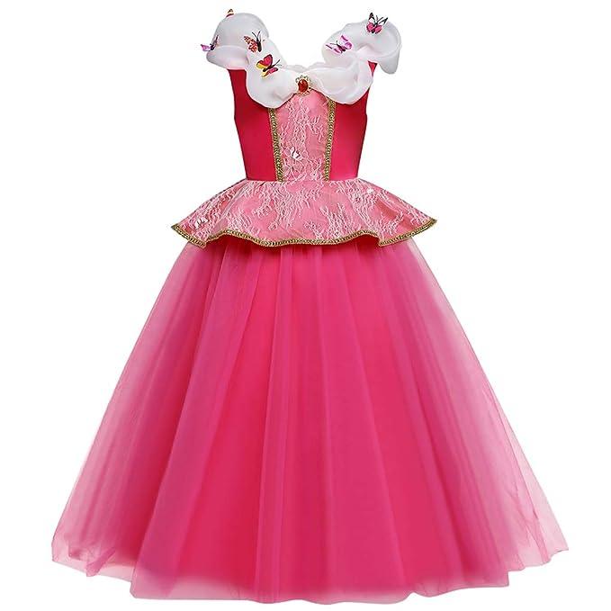 Zilee Niñas Vestido de Fiesta Princesa Disfraz Largos - Niños Halloween Disfraces Vestidos sin Mangas Trajes