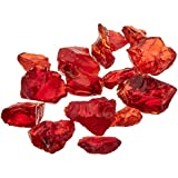 "Dragon Glass 1/4"" Landscape Glass, 10 lb, Red"