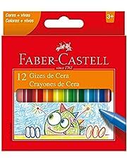 Faber-Castell 141012N - Giz de Cera, 12 Cores