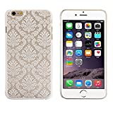 iPhone 6 Plus Case, iPhone 6S Plus Case, Let it be Free Hard Plastic Case For iPhone 6/6S Plus (5.5Inch) -- Baroque Retro Court Lace Pattern Texture Series (For iphone 6s plus , White)
