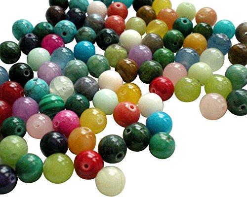 Round Gemstone (UnCommon Artistry Genuine Natural Gemstone Round Beads 6mm ~Loose Beads~ (100 Beads))