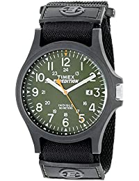 Men's TW4B00100 Expedition Acadia Green/Black Fast Wrap Velcro Strap Watch