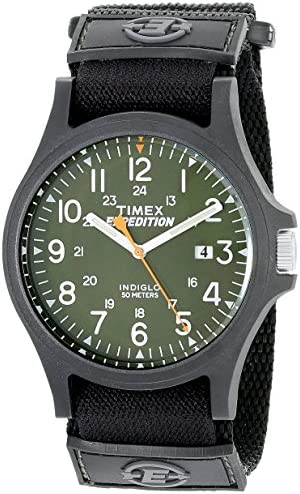 [Sponsored] Timex Men's TW4B00100 Expedition Acadia Green/Black Fast Wrap Velcro Strap Watch