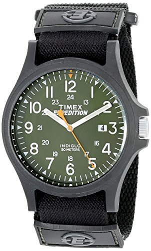 (Timex Men's TW4B00100 Expedition Acadia Green/Black Fast Wrap Strap Watch)