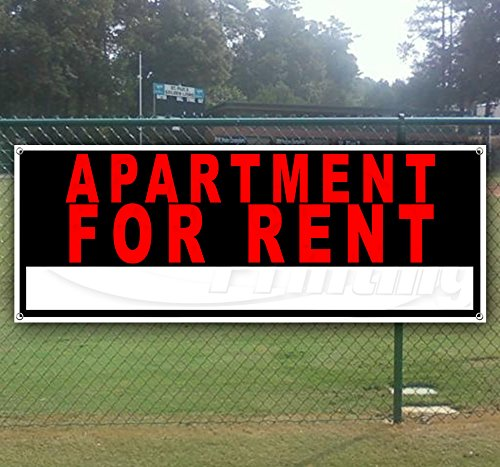 Apartment for Rent 13 oz Heavy Duty Vinyl Banner Sign with Metal Grommets, New, Store, Advertising, Flag, (Many Sizes Available) by Tampa Printing