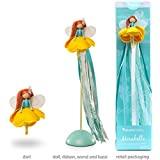 Mönelie Fairy Doll Set - MIRABELLE (Includes a Doll, Ribbon Wand & Stand)