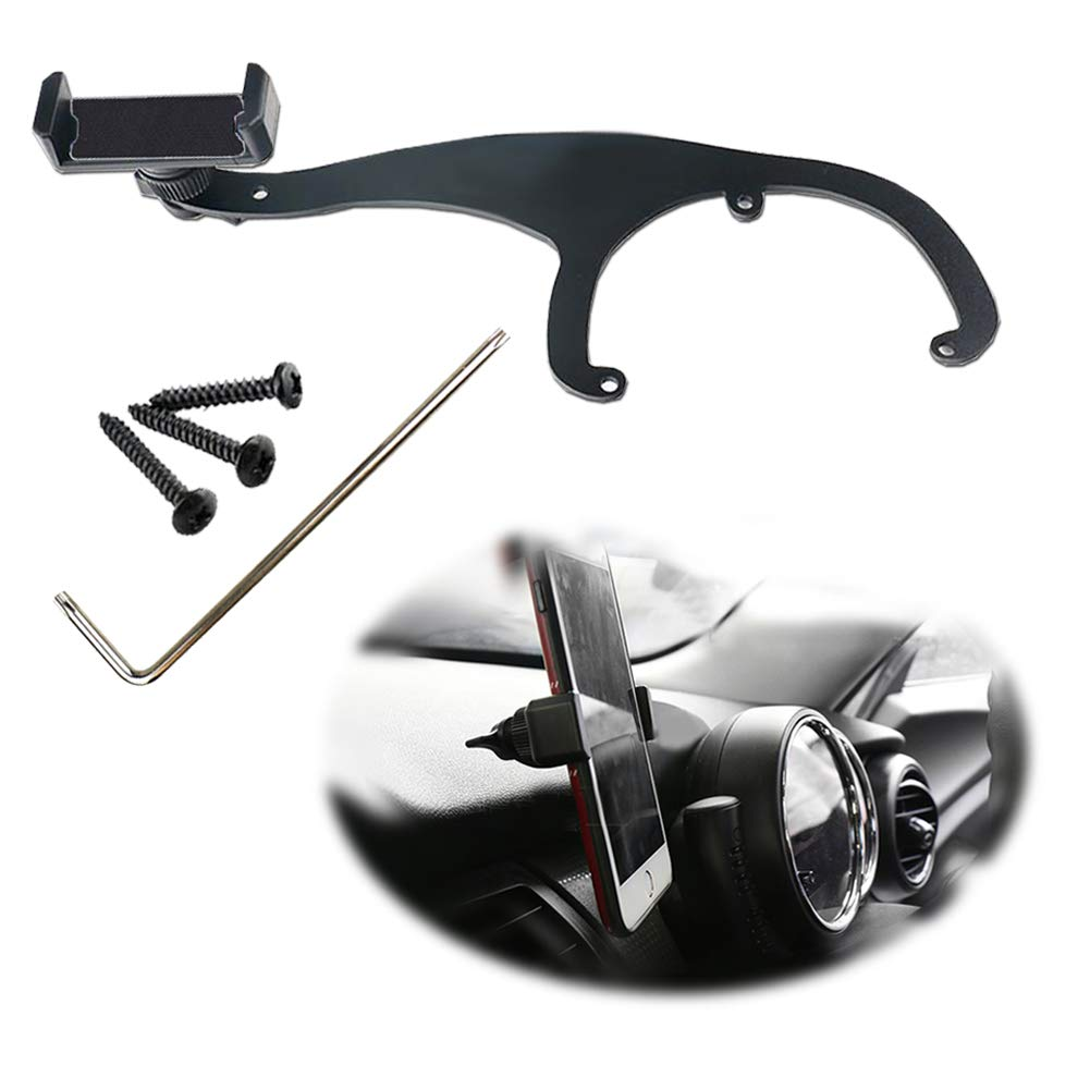 Miniclue Behind Tachometer Bolt-On Smartphone Cell Phone Cup Mount GPS Holder with Cradle Rotatable Clip for Mini Cooper R55 R56,1 Pack