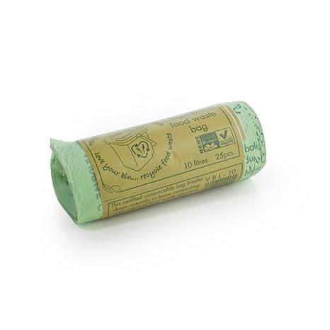10 litros x 100 biodegradables compostables cocina residuos ...