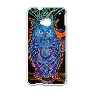 HTC One M7 Goo goo owl Phone Back Case Custom Art Print Design Hard Shell Protection HGF036794