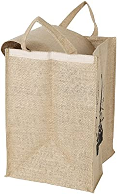 Grocery Bag - Eco Friendly, Natural Jute/burlap - 15.7x 11.8 X 10.2