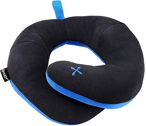 BCOZZY Chin Supporting Travel Pillow- Stops the Head from Falling Forward- Comfortably Supports the Head, Neck and Chin in Any Sitting position. A Patented Product. Adult Size, Black ()