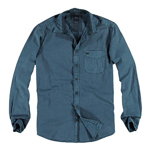 engbers Herren Hemd gemustert, 22756, Türkis