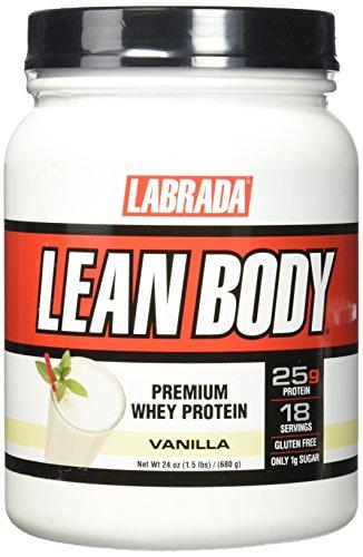 Labrada Nutrition Lean Body Premium Whey Protein, Vanilla, 24 Ounce