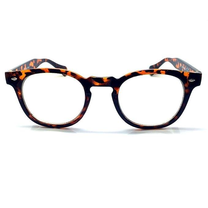 Occhiali neutri KISS® - stile MOSCOT Johnny Depp - montatura da vista RETRO uomo donna unisex - NERO WOOD 0zHeauH