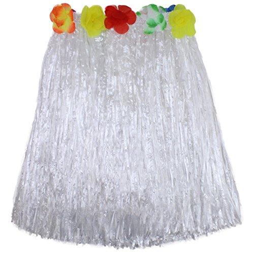 (LKXHarleya Girls Grass Luau Hula Skirts Hawaiian Ourfits Hibiscus Flowers Dresses Costume Tropical Party Favors)