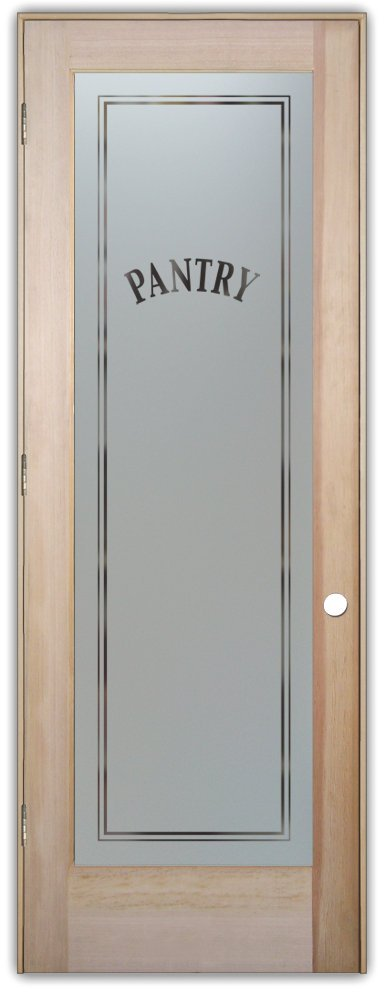 Pantry Door   Sans Soucie Etched Glass Interior Door, Doug Fir, Classic  Design 24 In. X 80 In. Prehung Left Hand Out Swing 4 9/16 In. Matching Jamb.
