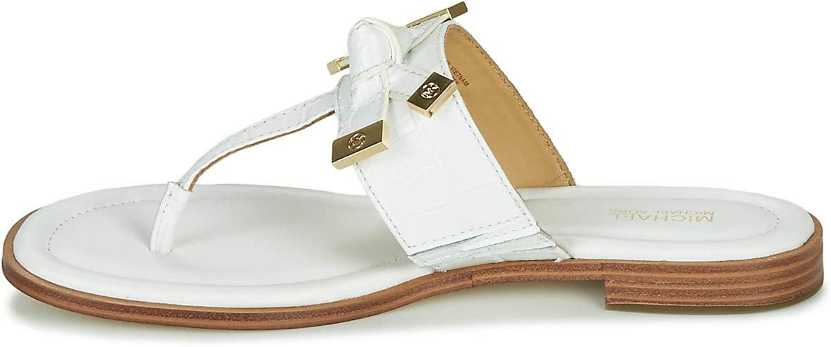 MICHAEL Michael Kors Ripley Thong Teenslippers Dames Wit Teenslippers Shoes Wit