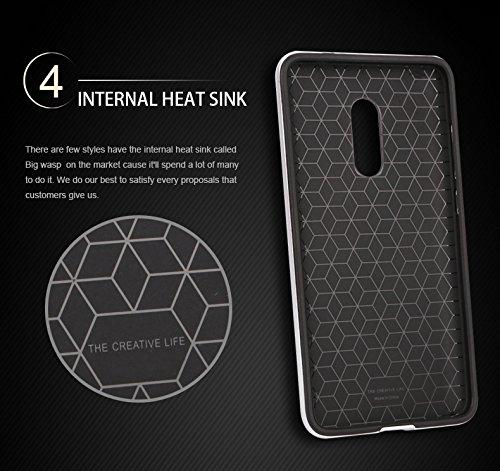 3971413e5f9 Luxury TPU+PC Armor Protective Back Case Cover for Xiaomi Redmi Note 4   Silver   Amazon.in  Electronics