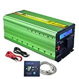 EDECOA Power Inverter 3000 Watt DC 24V to 120V Power Converter - Green