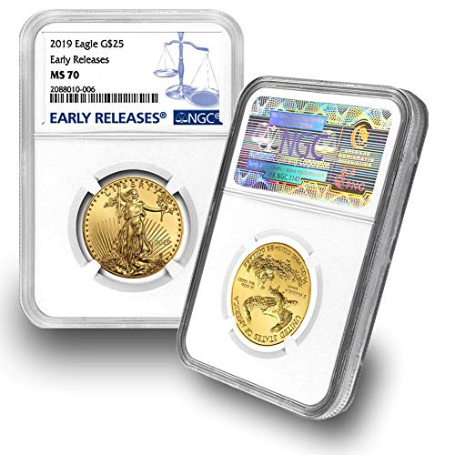 (2019 1/2oz Gold Eagle G$25 MS70 NGC Early Releases )