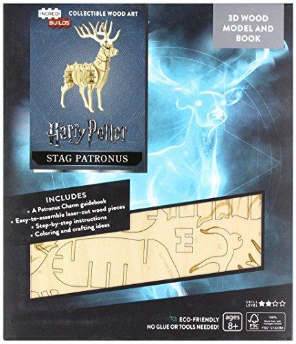 Incredibuilds Potter: Harry's Patronus 3D Wood Model and Boo