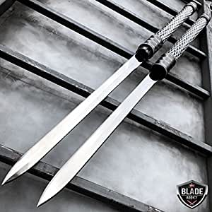 """Only US 25"""" NINJA SAMURAI Dual Blade TWIN SWORDS Katana Japanese Combat COSPLAY NEW Set"""