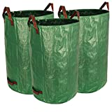 Gardzen 3-Pack 32 Gallon Garden Bag - Reuseable Heavy Duty Gardening Bags, Lawn Pool Garden Leaf Waste Bag