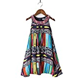 childdkivy Girls Summer Dress Toddler Girls Bohemian Dresses Princess Costume (4 height 39.4-41.3 Inch, 1643)