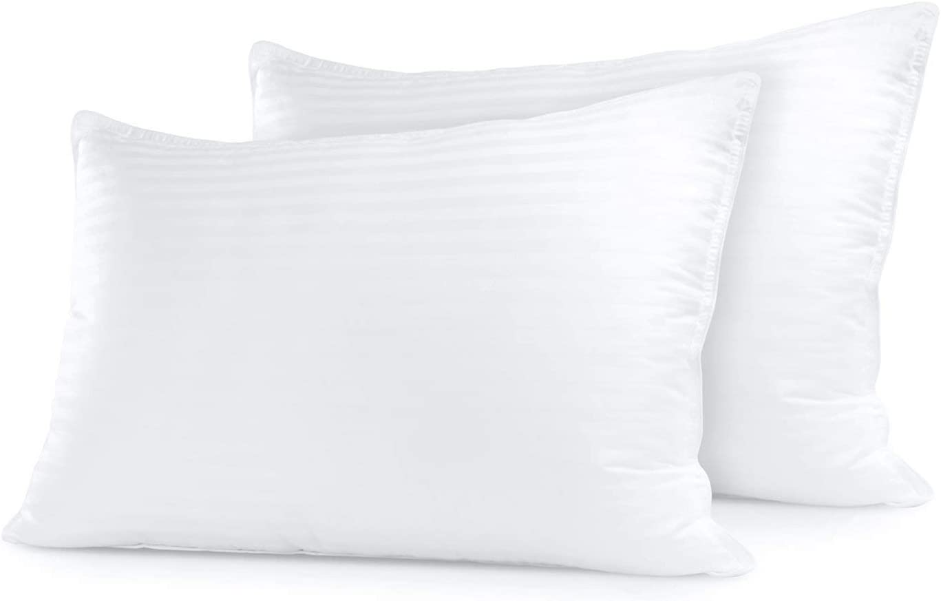 sleep restoration bed pillows for sleeping king size set of 2 comfortable luxury cooling pillow for back side or stomach sleepers