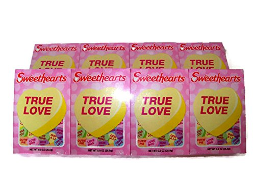 Sweet hearts Conversation Candy Valentine 8 (.9 oz Boxes) (Images Vary) (Sweet Candy Box)